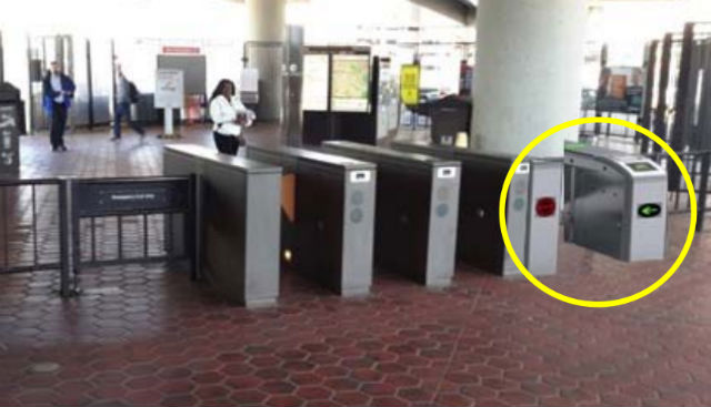 Behold: Metro Fare Gates That Accept Phone, Credit Card