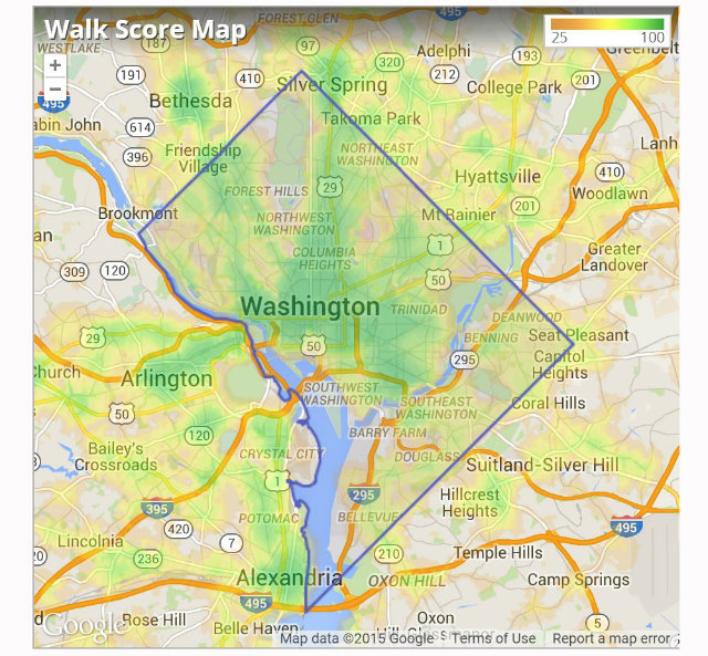 D.C.'s Walk Score Sta Exactly The Same. What? | DCist on