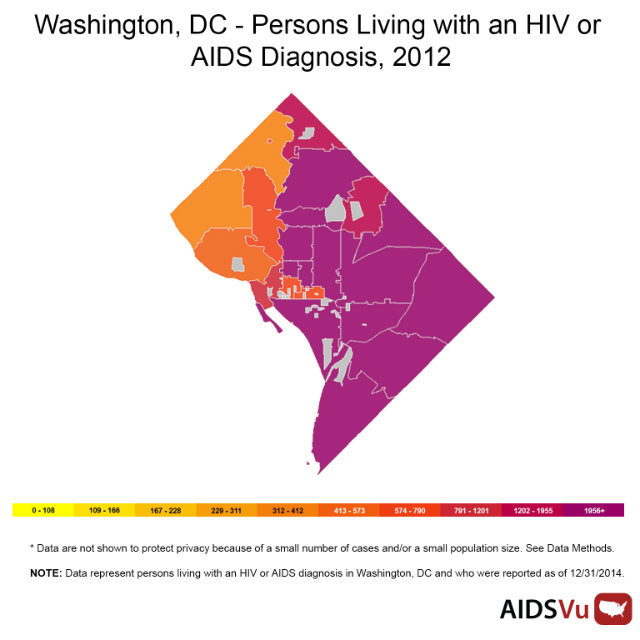 Interactive Map Breaks Down HIV/AIDS Rates In The District By Ward on