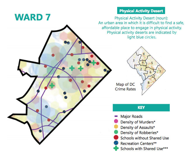 Maps Show Which Wards Have The Fewest Spaces For Safe Physical ... Dc Ward Map on