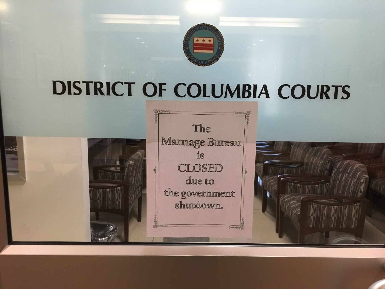 D C  Residents Can Soon Get Married Again, Even As Shutdown