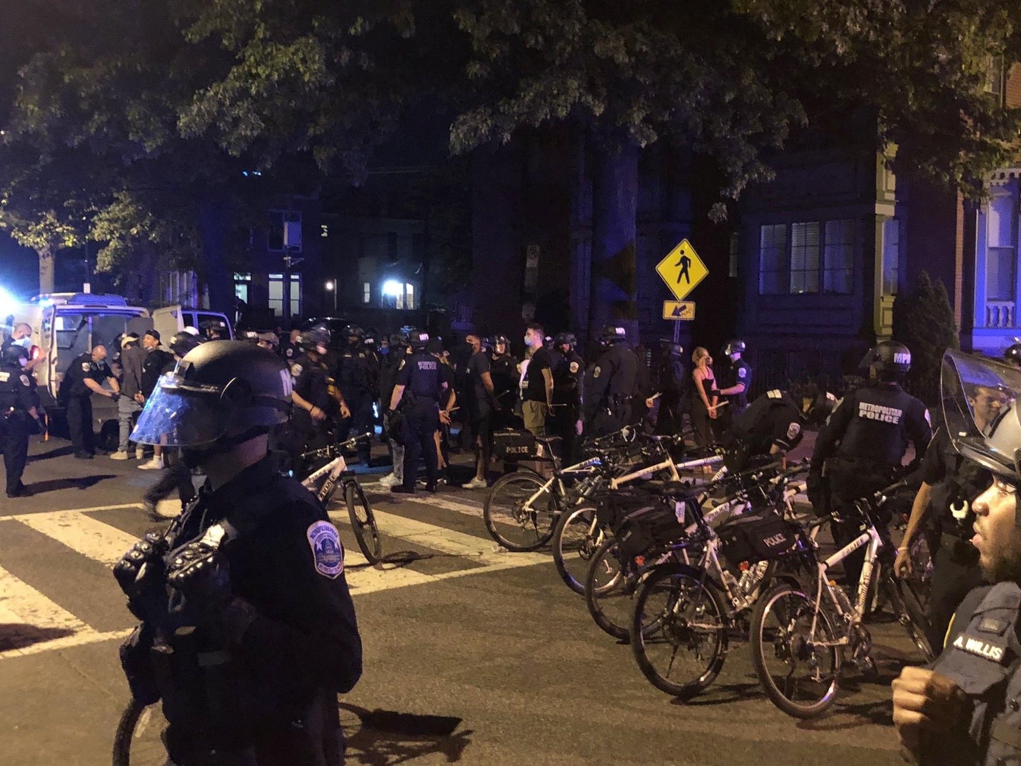 Swann Street Residents Sheltered Dozens Of Protesters From Police On The  Fourth Night Of Protests   WAMU